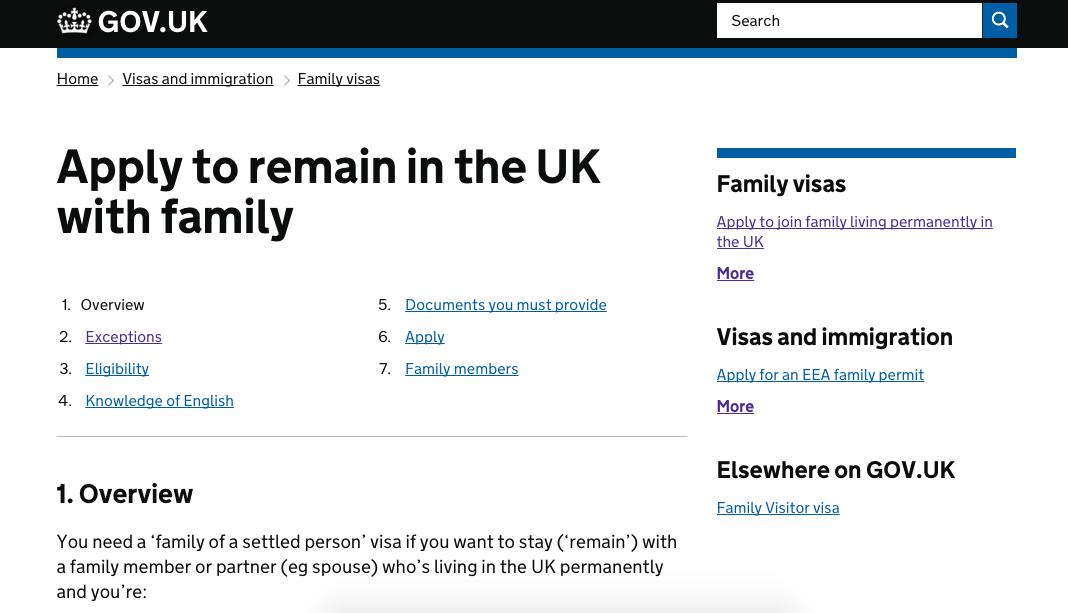 UK GOV ホームページ