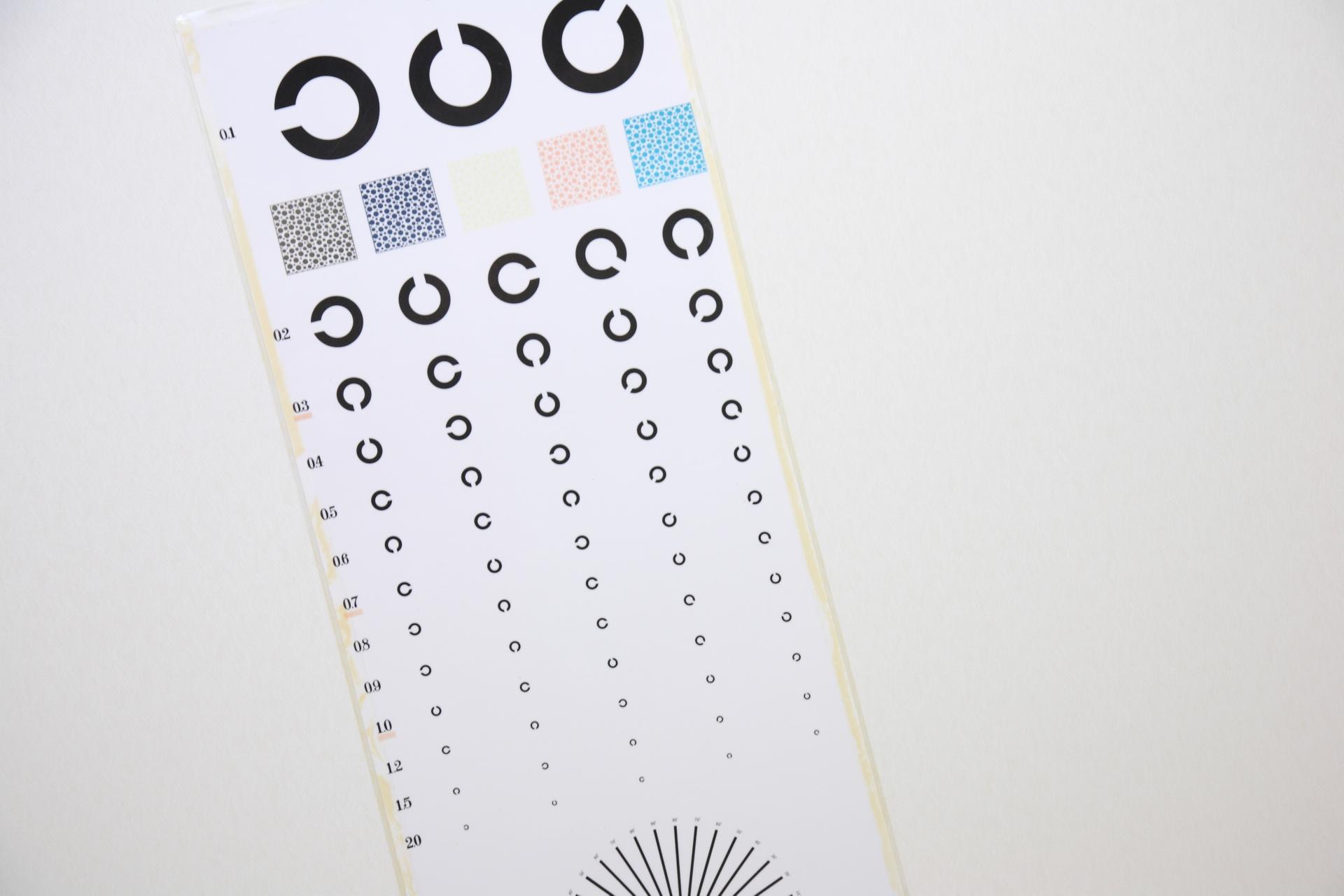 視力検査の表